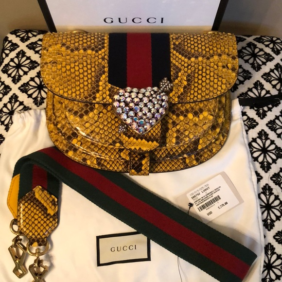 💯% Authentic limited edition Gucci python bag NWT